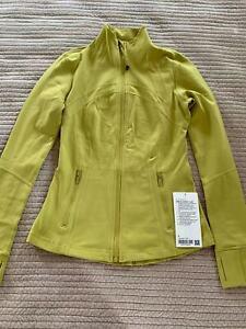 NWT Lululemon Define Jacket ~SIZE:6,10~Yellow Pear