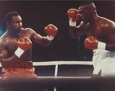 BUSTER DOUGLAS vs EVANDER HOLYFIELD 8X10 PHOTO BOXING PICTURE