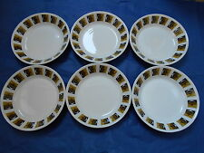 RAVENNA Ridgway Potteries 1960s 6 soup dessert or cereal bowls