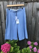 Diane von Furstenberg ASHETON Denim culotte size 6 UK 10 waist 32''