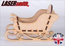 Freestanding MDF Santa Christmas Sleigh - Ideal for craft & decoupage 3D