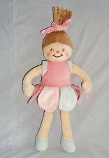 Doudou poupée velours rose & bleu Sucre d'orge (33cm)