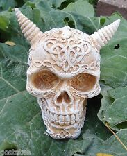 Celtic skull snake latex mold with plastic backup concrete plaster mould