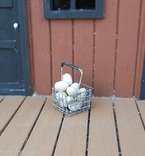 Wire Basket of Potatoes Miniature for Your Model Train or Modeling Dioramas