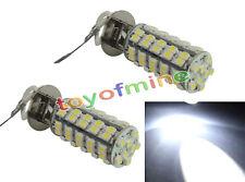2x 12V H3 68 SMD LED del coche de la señal de luz de lámpara Bombilla