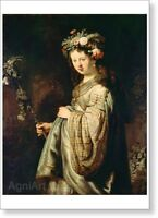HERMITAGE MUSEUM. Rembrandt. Flora. Fine Art Print NEW