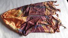 Large écharpes genre Hippies avec franges – ton bruns