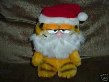 "Christmas Plush Santa Garfield Vintage 8"" 1981 Dakin"