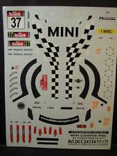 DECALS 1/24 MINI COOPER WRC - #37 - D.SORDO - SARDAIGNE 2011   - COLORADO  24134