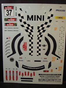 DECALS 1/24 MINI COOPER WRC - #37 - D.SORDO - SARDAIGNE 2011  - COLORADO  24134