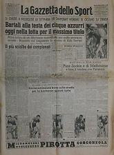 La Gazzetta dello Sport  N°197/20.AGO.1950-  BARTALI ALLA TESTA DEI 5 AZZURRI