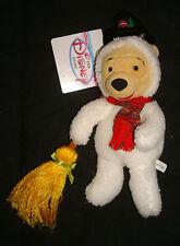 Winnie The Pooh Disney Store Bean Bag Plush Snowman Christmas X-mas Snow Man
