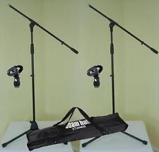 2 x Mikrofon-Ständer ECO mit Mikrofonklemme und Tasche ADAM HALL Mikrofonstativ