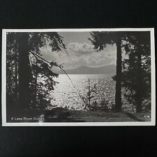 Vintage Lake Tahoe Real Photo Postcard RPPC California Nevada