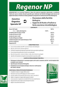 CONCIME ORGANICO REGENOR NP 7-13 azoto fosforo prato orto giardino HAIFA 25 KG