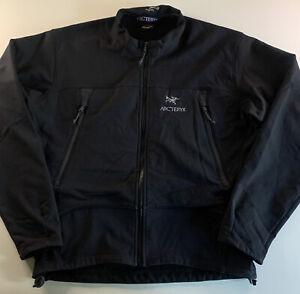 Men's Arc'teryx Logo Fleece Lined Jacket Black Size Large