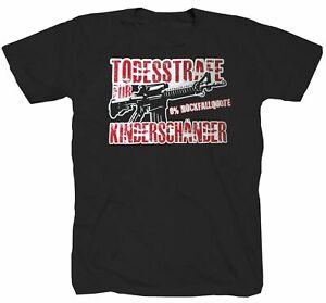 Für Kinderschänder 0% Rückfallquote Justiz Gesetz  T-Shirt S-4XL