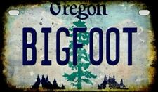 Bigfoot Oregon State Background Novelty Motorcycle Plate
