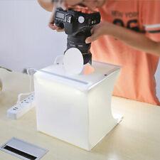 40cm Photo Studio Box Lighting Box Cube Photography Backdrop Double LED Light-UK