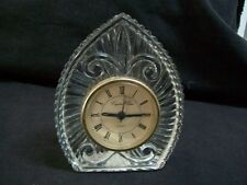 Crystal Clear 24% Lead Crystal Quartz Clock in Very Good Working Condition