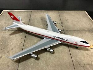 Aeroclassics Swissair 747-257B, 1970s Colors named Zürich Polished Belly, HB-IGB