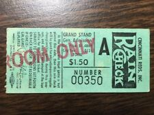 1970s Cincinnati Reds Standing Room Only Admission ticket stub $1.50 Riverfront