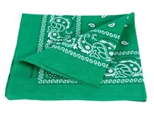 Bandana vert motif paisley foulard zandana écharpe accessoire vêtement ba-74