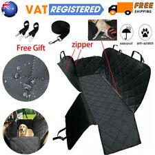 Car Rear Back Seat Cover Pet Dog Cat Auto Protector Waterproof Hammock Mat Black