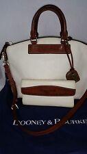 Dooney and Bourke Pebble white Leather Hobo bag handbag purse with wallet