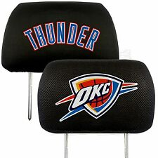 Oklahoma City Thunder 2-Pack Auto Car Truck Embroidered Headrest Covers