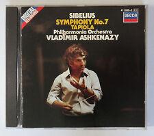 Sibelius Symphony No.7 Tapiola Ashkenazy CD DECCA