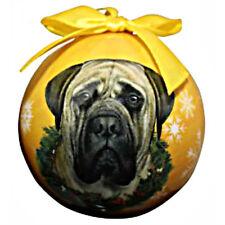 E&S Pets Holiday Christmas Ornament Ball Shatterproof NEW Mastiff Dog