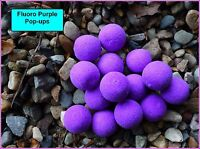 FLUORO PURPLE 12mm POP-UPS BOILIES, UNFLAVOURED OR FLAVOUR & DIP