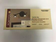 Portfolio Vanity Bar in Dark Oil-Rubbed Bronze Finish 0321897 NEW