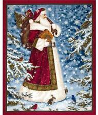 "Quilting Treasures ""Father Christmas"" Santa Clause Metallic Fabric Panel"