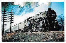 Jersey Central Railroad Baldwin 4-6-2 Pacific Locomotive 821 Train RR Postcard