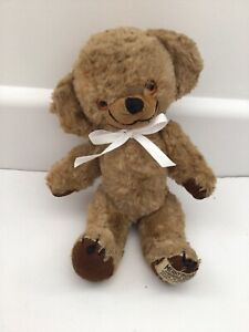 """CUTE SMALL OLD VINTAGE 50s 60s MERRYTHOUGHT CHEEKY TEDDY BEAR WITH LABEL - 8"""""""