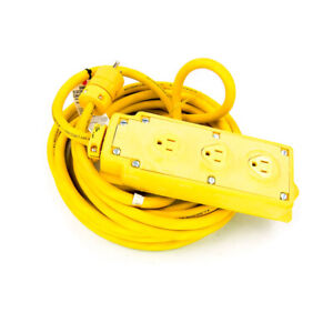 Woodhead 31593A143 (3) Straight Blade Receptacle Outlet Box with 25-FT Cord