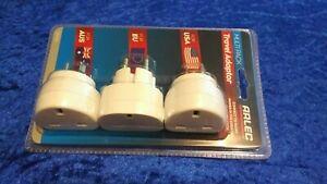 Arlec Multi Pack Travel Adaptor Set – UK to USA, EU, AUS with case