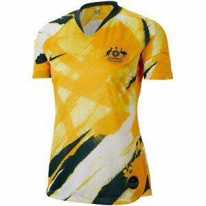 Nike Womens 2019 Australia Home Stadium Soccer Jersey AJ4388-397 Womens Size S