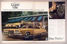 Pontiac Grand Ville 2-Page PRINT AD - 1971