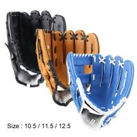 "Leather Baseball Softball Gloves Mitts Left Hand Youth Adult 10.5"" 11.5"" 12.5"""
