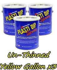 3 Gallons Yellow Unthinned Performix Plasti Dip Concentratestrength Free Sh