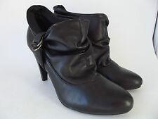 NINE & CO Black Ankle Booties Heels Womens SHOES Sz 6 1/2
