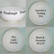BN Personalised Bone China Teabag Bowl, Teabag Tidy, Teabag Rest, Teabag Holder