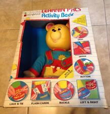 """Vintage Colorforms Learning Pals Activity Bear Huge 24"""" Bear w/ 8 activities NEW"""