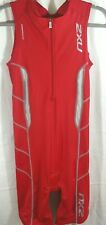 2XU L Womens RED Sleeveless Triathlon TRI SBR Skin SUIT SINGLET Nylon Lycra