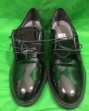 Capps Military Low Quarters Dress Shoes Black Oxfords Size 7M