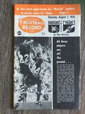 1976 VFL AFL football record Melbourne Demons V Richmond Tigers August 7