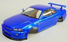 1/10 RC Car BODY Shell NISSAN SKYLINE R34 190mm *FINISHED* Metallic  BLUE